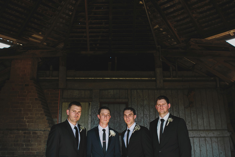 Groomsmen Belgenny Farm Wedding