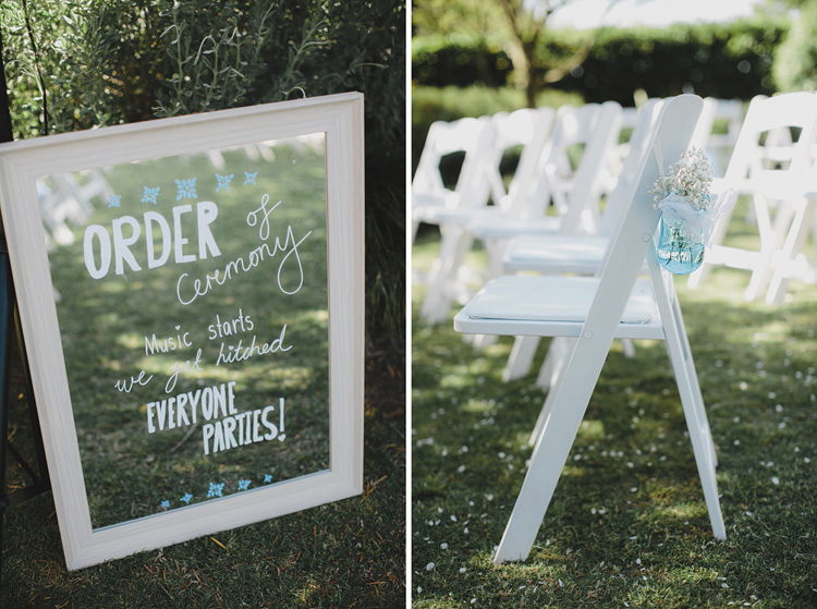 white fold up wedding chairs