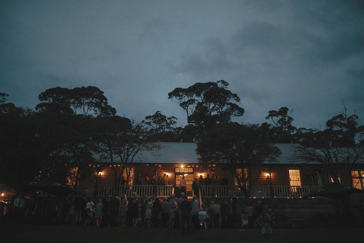 athol hall at dusk