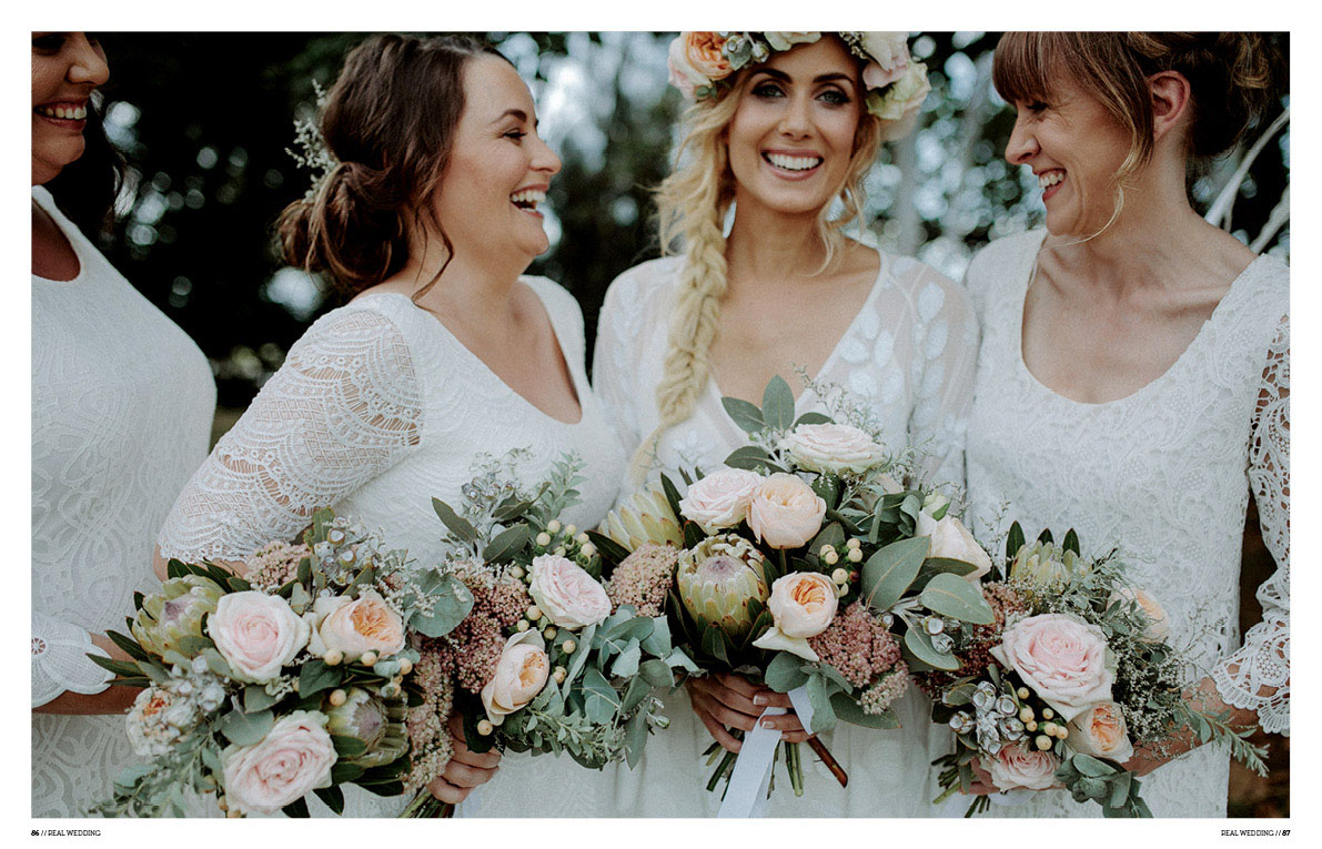 driftwood shed wedding hello may bridesmaids