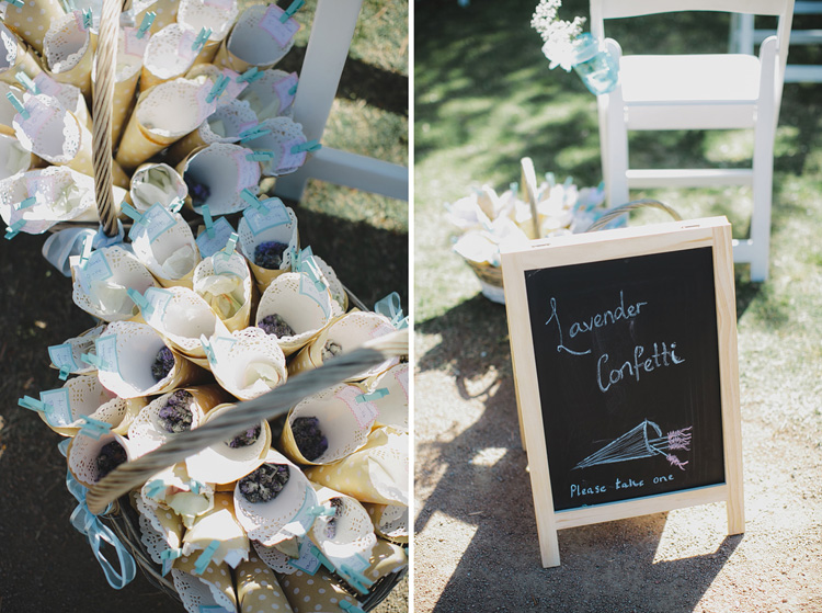 lavender confetti wedding