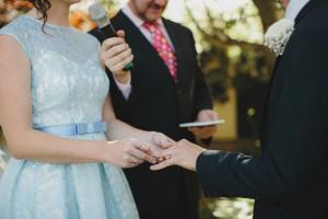 ring exchange Belgenny Farm Wedding