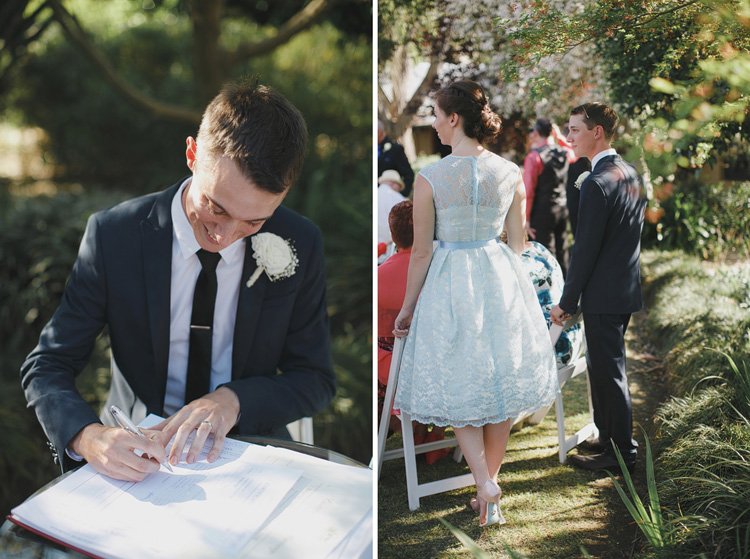 Belgenny Farm Wedding signing