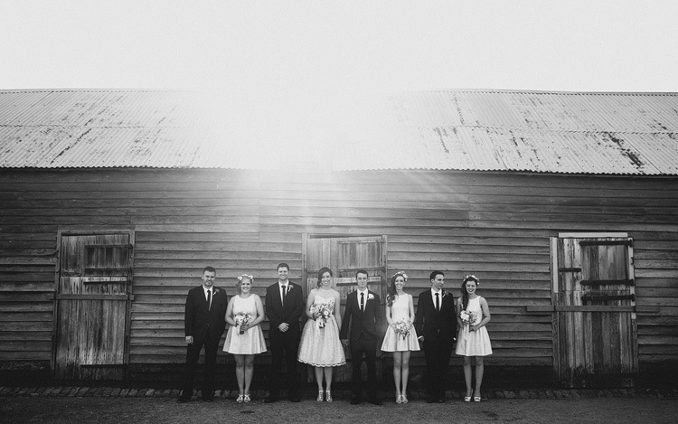 Belgenny Farm Wedding bridal party