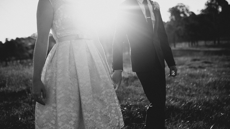 flare sunshine walking wedding