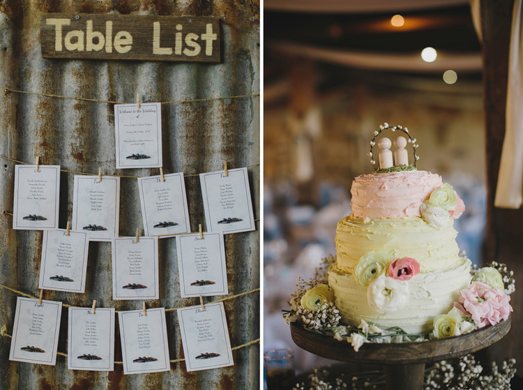 wedding cake table list