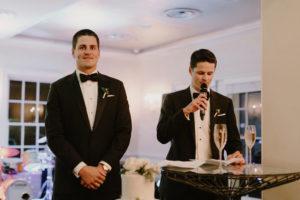 groomsmen speech in tuxes