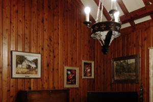 vintage oak panelling
