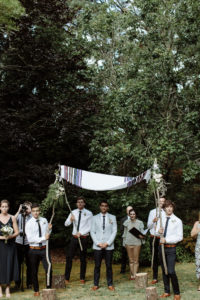 groom waits for bride jewish wedding