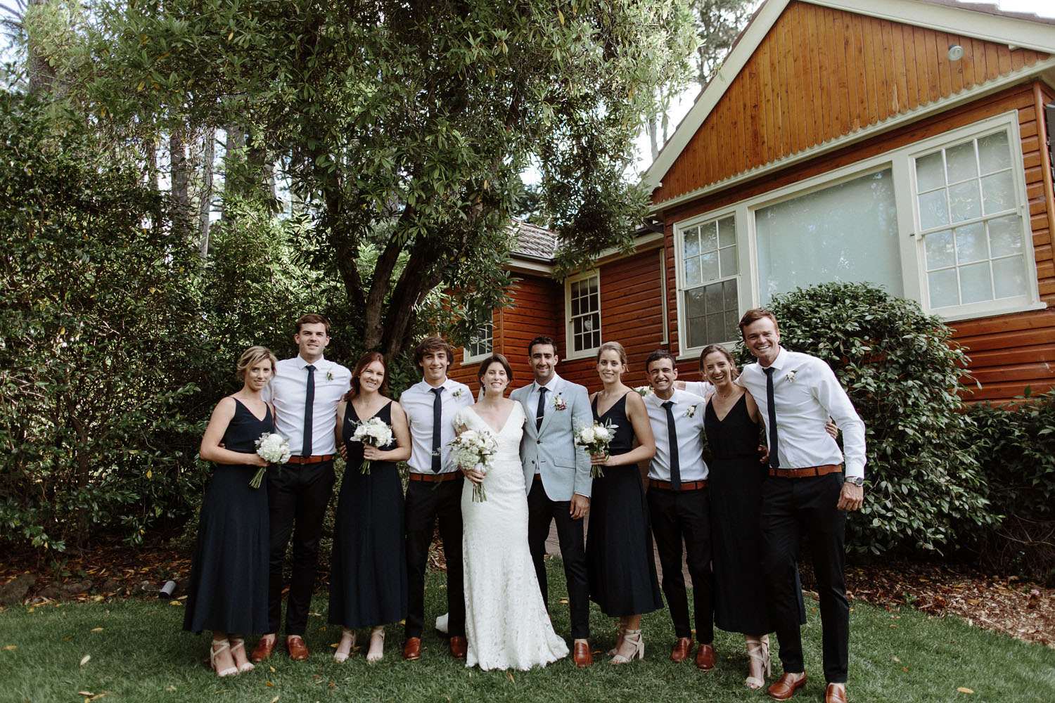 blue mountains wedding party