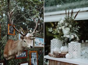 stag head wedding details