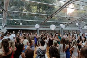 jewish wedding guests hora dancing