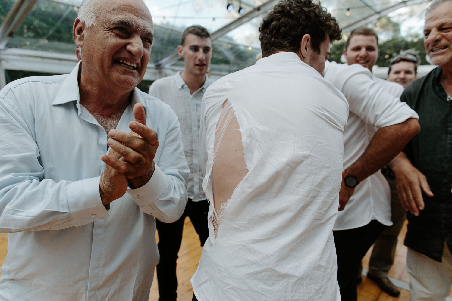 jewish wedding hora ripped shirt