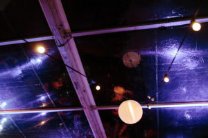 chinese lanterns in wedding reception marquee