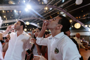 wedding guests do alcohol shots