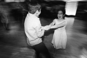 kids at wedding dancing
