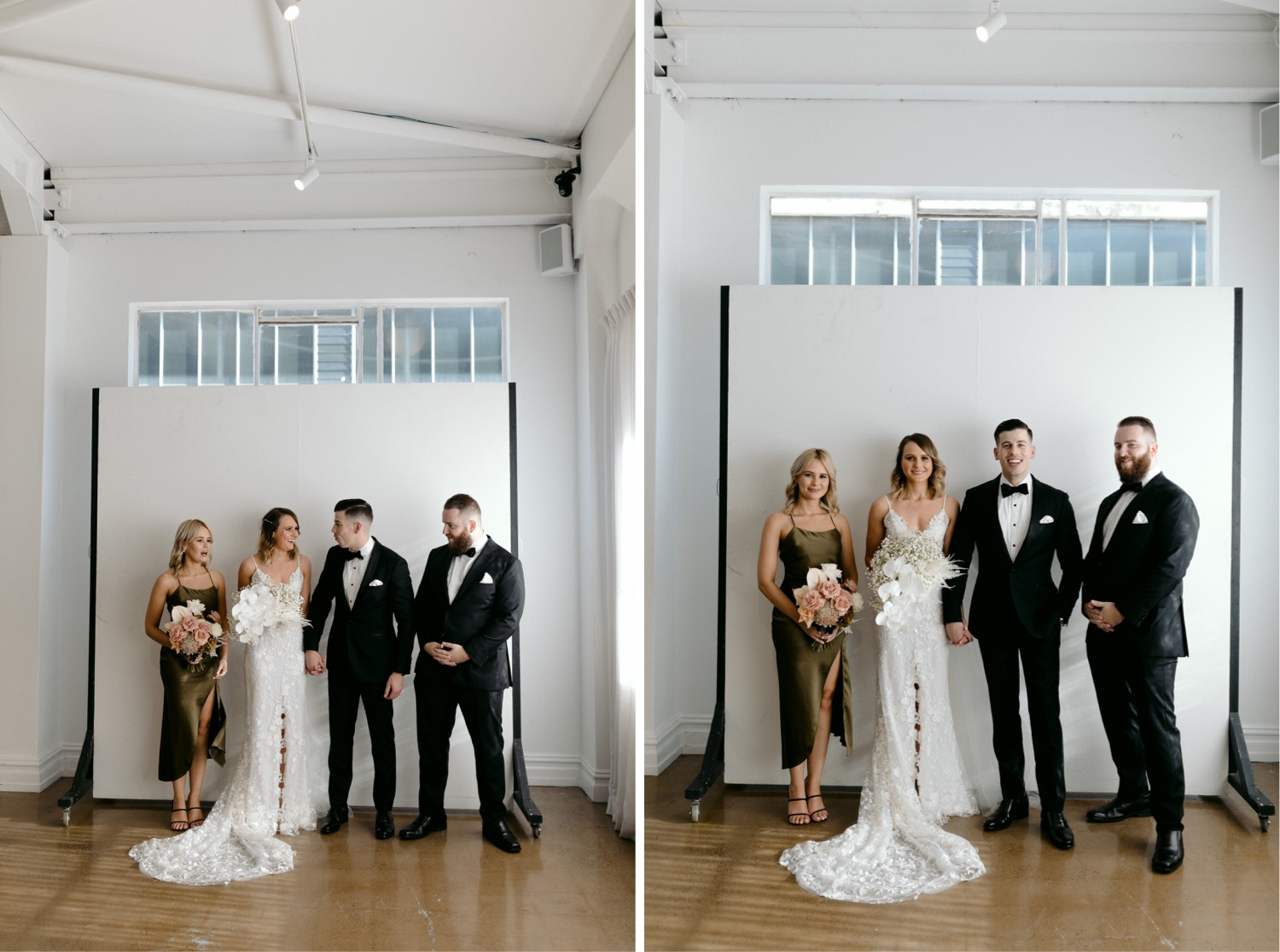 best bridal party portraits at la porte space