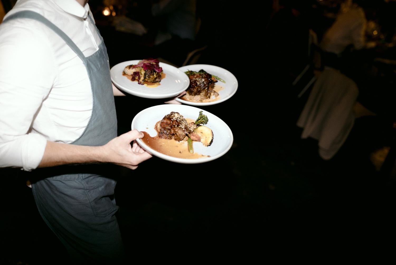 wedding food at three blue ducks sydney