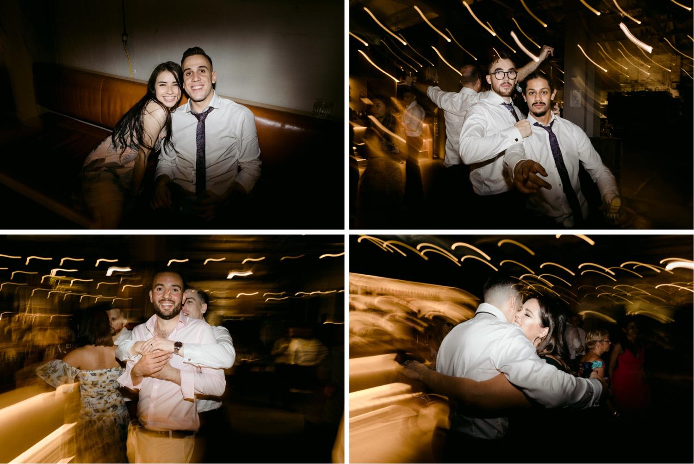 montage of crazy wedding guests dancing