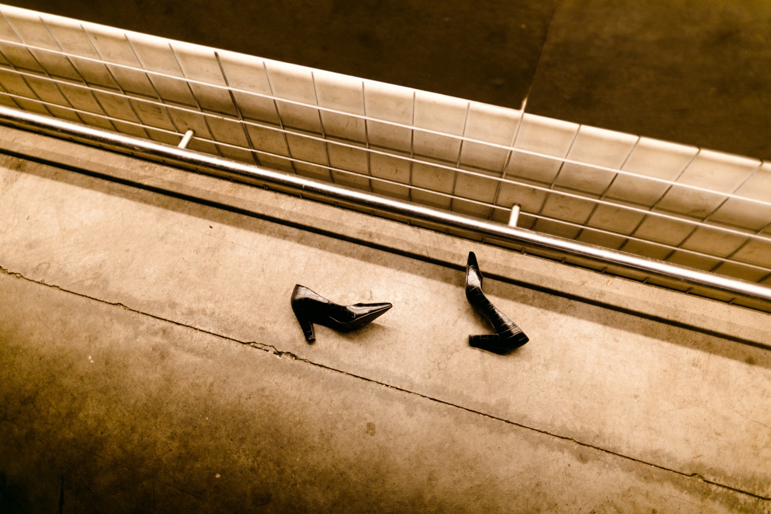 pair of shoes left behind on the dancefloor