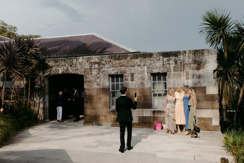 wedding guests outside gunners barracks