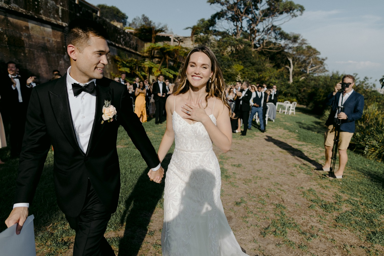 bride caught up in emotion of wedding