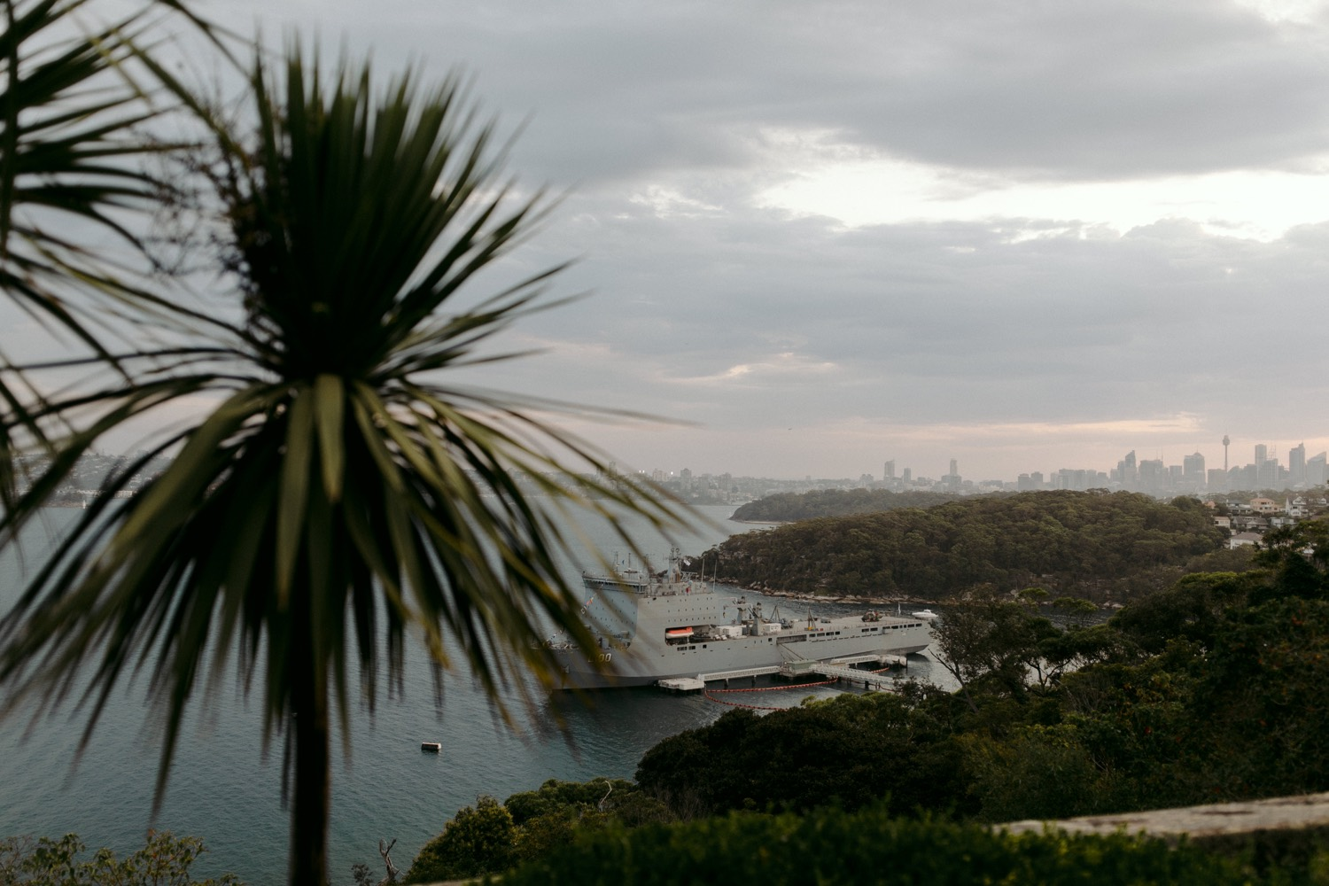 landscape view over sydney harbour from georges head