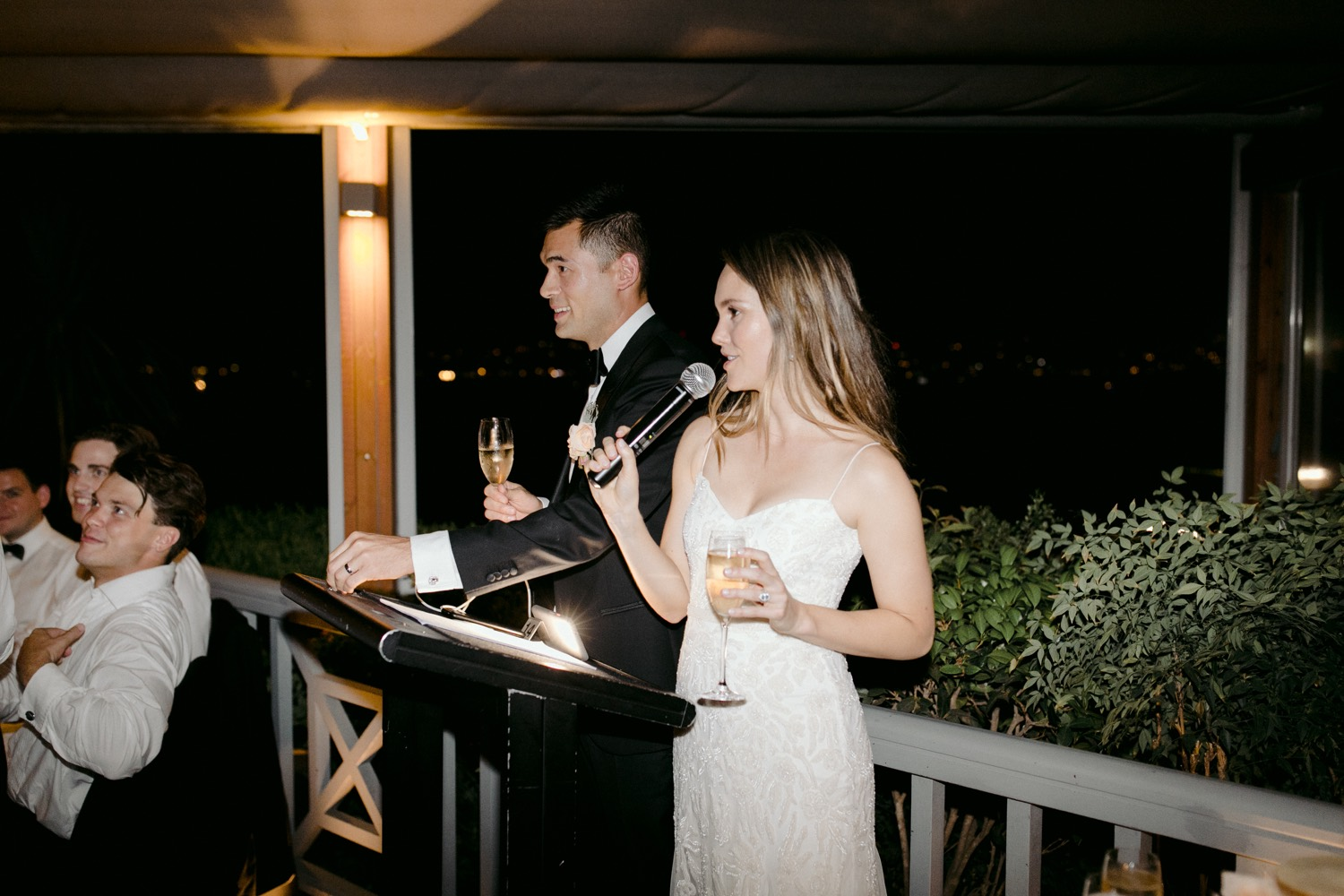 night time speeches at weddings