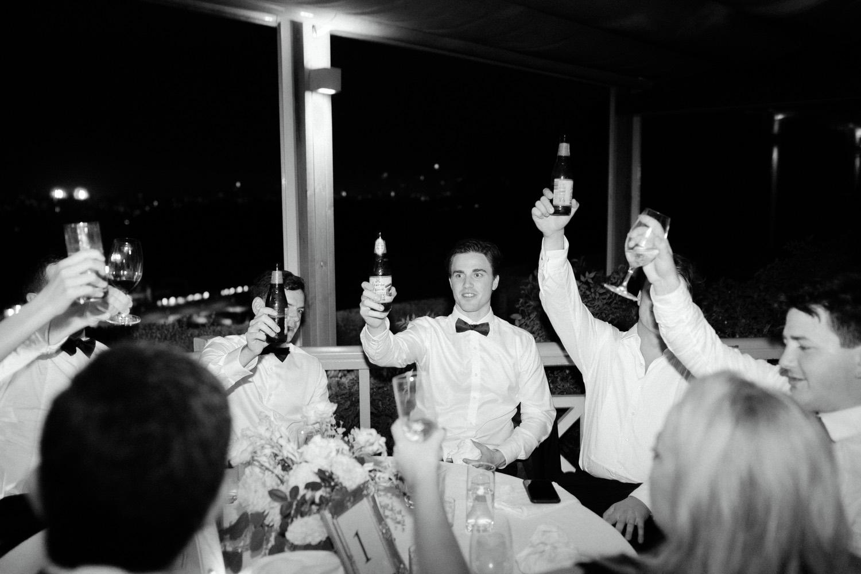 guests cheering at gunners barracks wedding